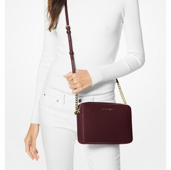 904ceabf452f Michael Kors Bags | Jet Set Large Burgundy Crossbody Bag | Poshmark